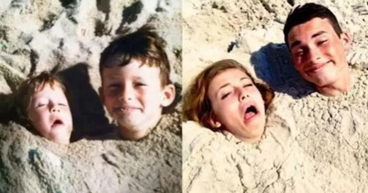9 19.jpg?resize=1200,630 - 26 Hilariously Re-Created Childhood Photos