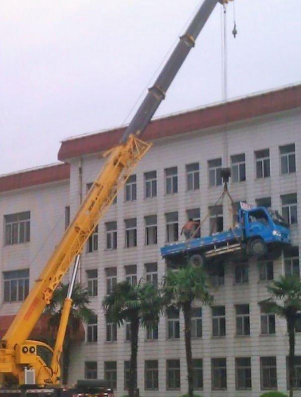 Crazy men doing dangerous things