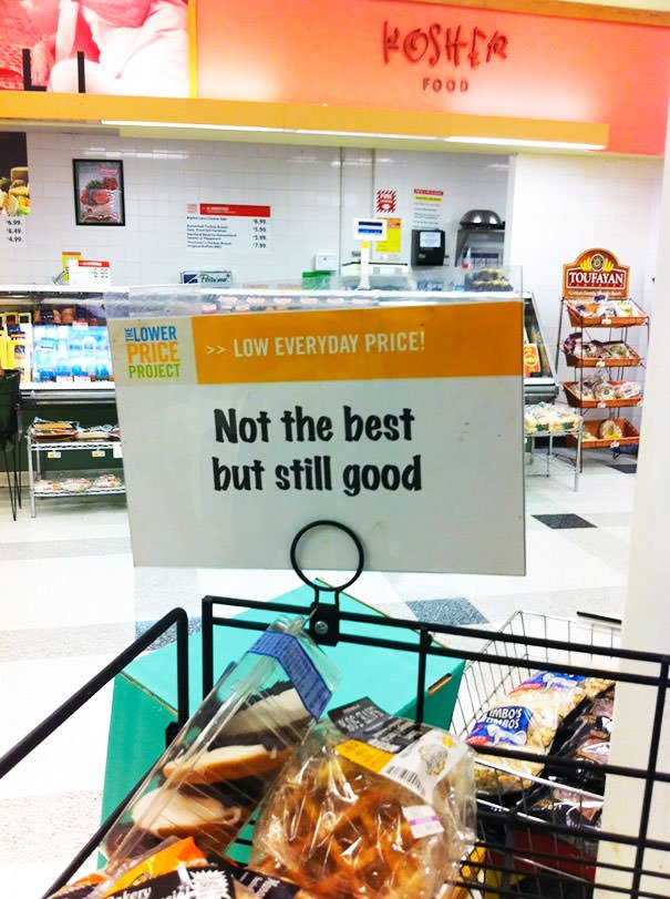 Honest Advertising At Local Grocery Store