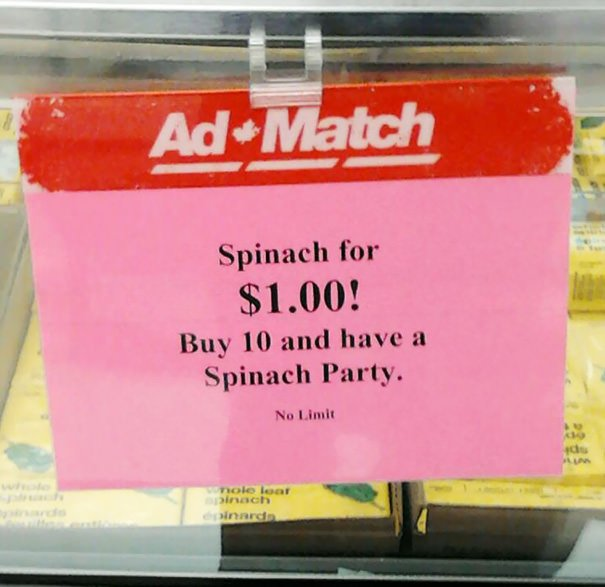 Spinach Party Anyone?