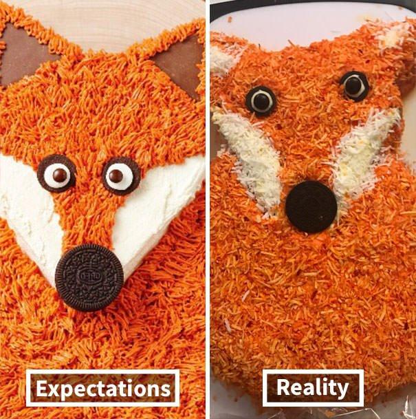Expectations Vs. Reality: Cake Edition