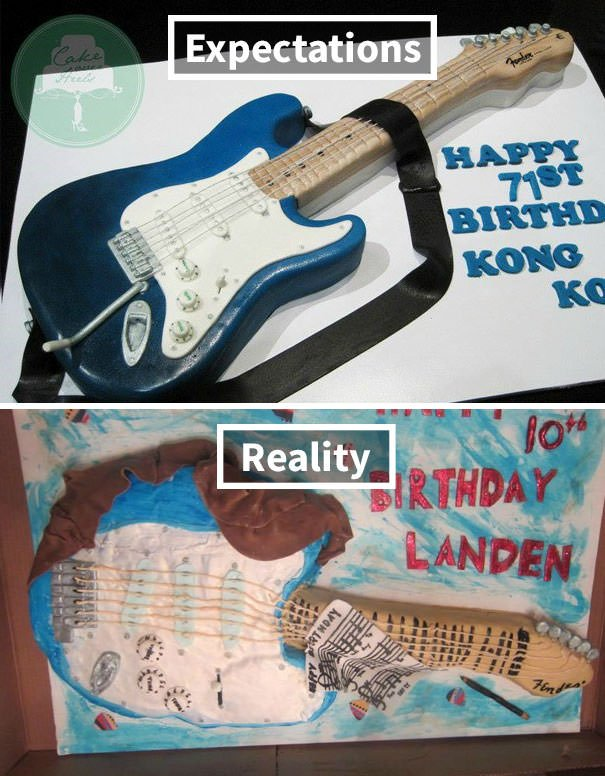 Friend Ordered Guitar Cake. Cake Maker Said She Could Make An Exact Replica