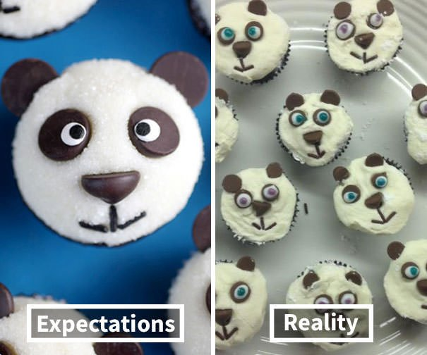 My Panda Cupcakes Turned Out Looking Rather Unfortunate With Each One Sporting A Grimace Worse Than The Next
