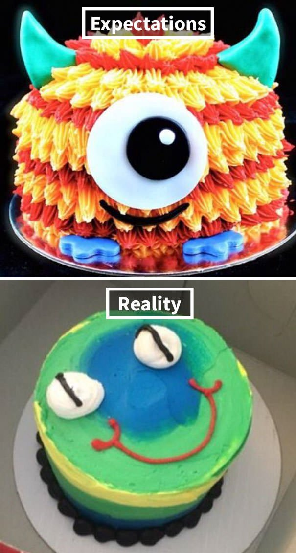My Aunt Ordered This Cute Monster Cake For Her Son