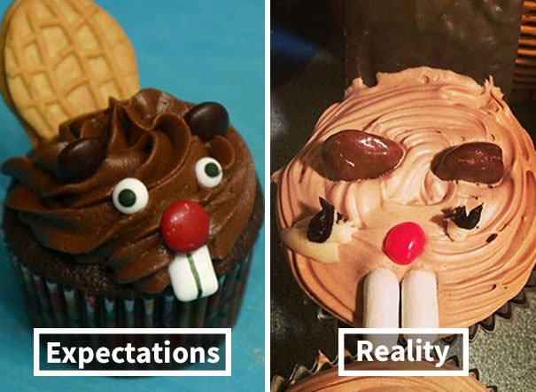 This Was For A Work Party, We Thought The Beaver Cupcakes Would Be Hilarious. And It Was, Hilariously Awful