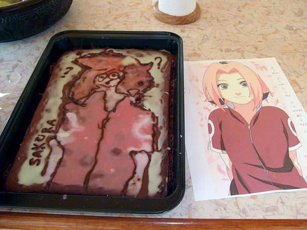 Anime Cake Fail