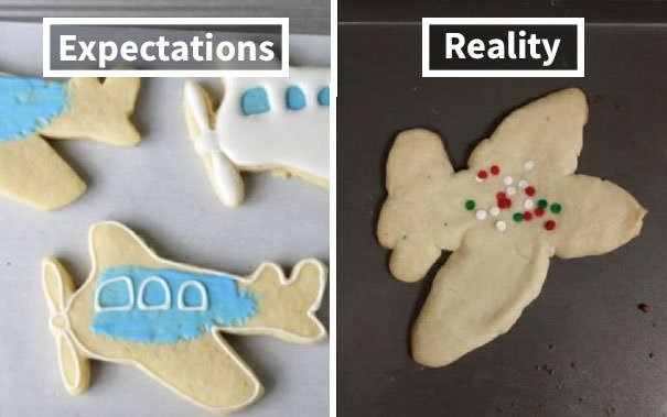 My 4 Year-Olds Wanted An Airplane Cookie To Decorate. Welp...