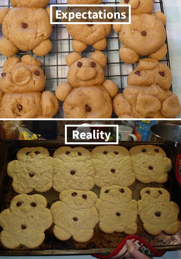My Daughter Attempted To Make Peanut Butter Cookies In The Shapes Of Cute Little Bears To Sell At The School Bake Sale. She Nailed It