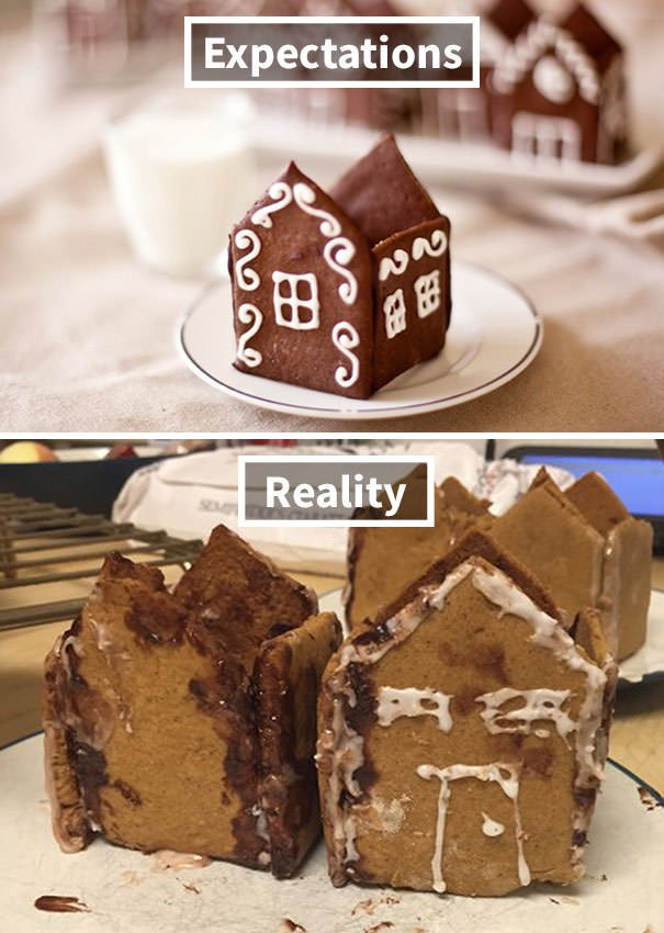 Gingerbread House Village. Everything Tastes Great Though