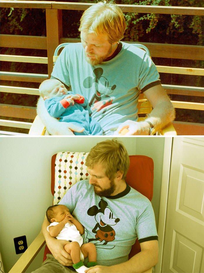 My Dad At 29, Me At 2 Weeks (My Dad