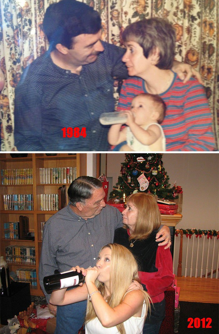 Christmas 1984 To Christmas 2012. The Only Thing That Has Changed Is My Choice Of Bottled Beverage