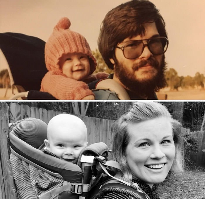 Started In The Backpack Now I'm Here... With My Son... 34 Years Later