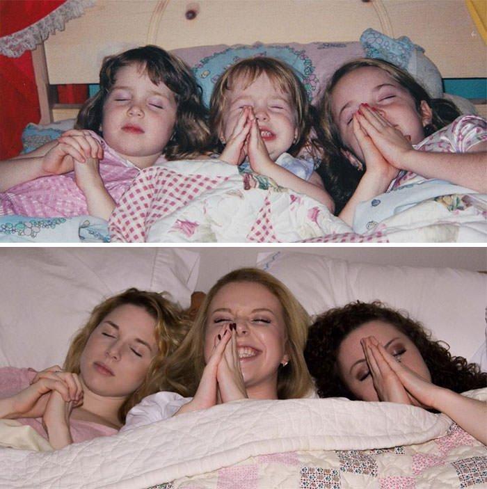 Sisters, 15 Years Apart