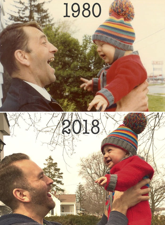 My Father And I In 1980, And My Son And I In 2018