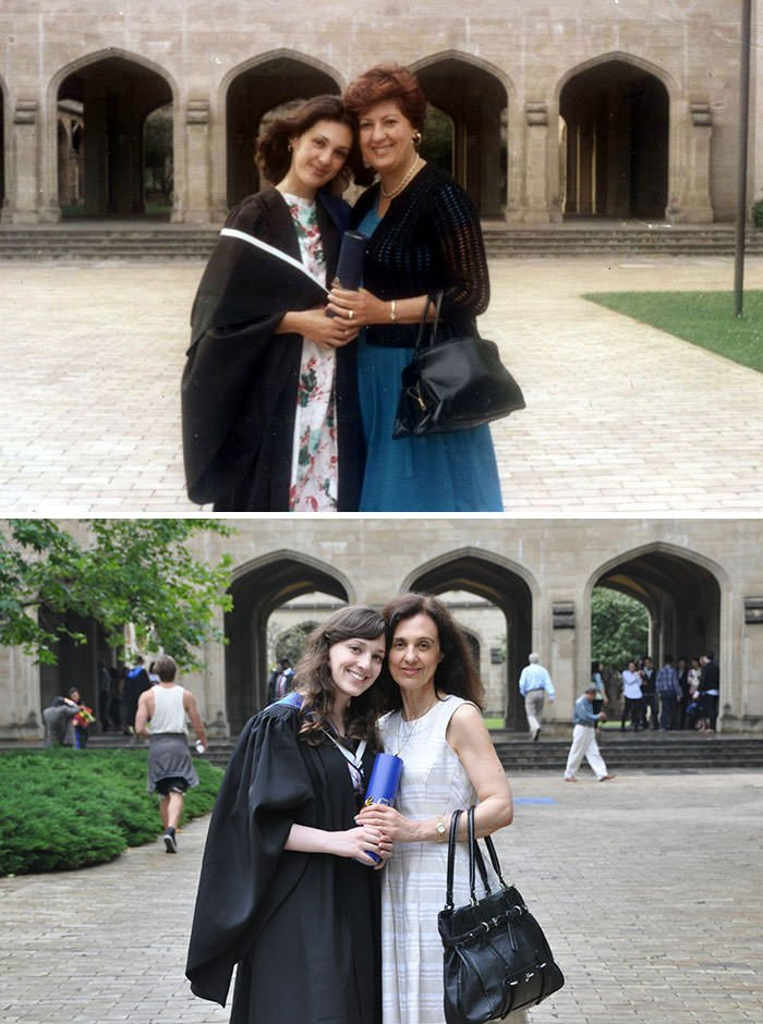 Being Able To Finally Recreate This Photo Has Been One Of My Proudest Achievements. The University Graduations Of My Mother And I