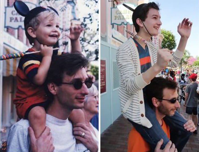 So My Dad And I Went To Disneyland To Recreate A Favorite Family Photo