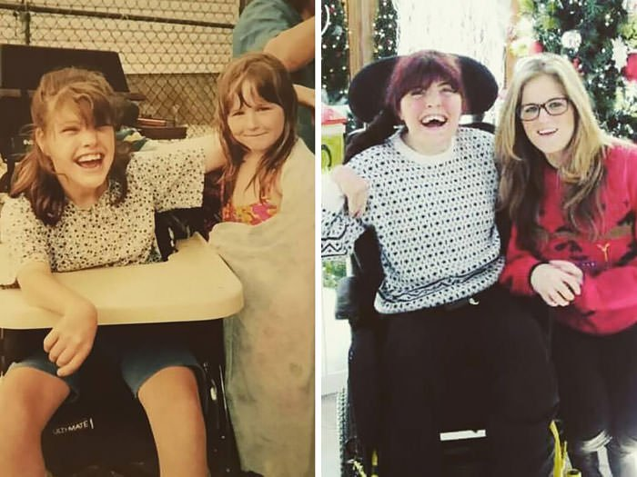 Sisters Then And Now, Photos 20 Years Apart