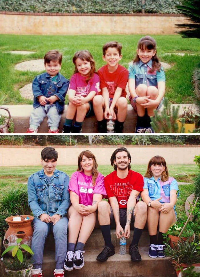 Recreated A Photo With My Siblings. What A Difference A Couple Decades Makes