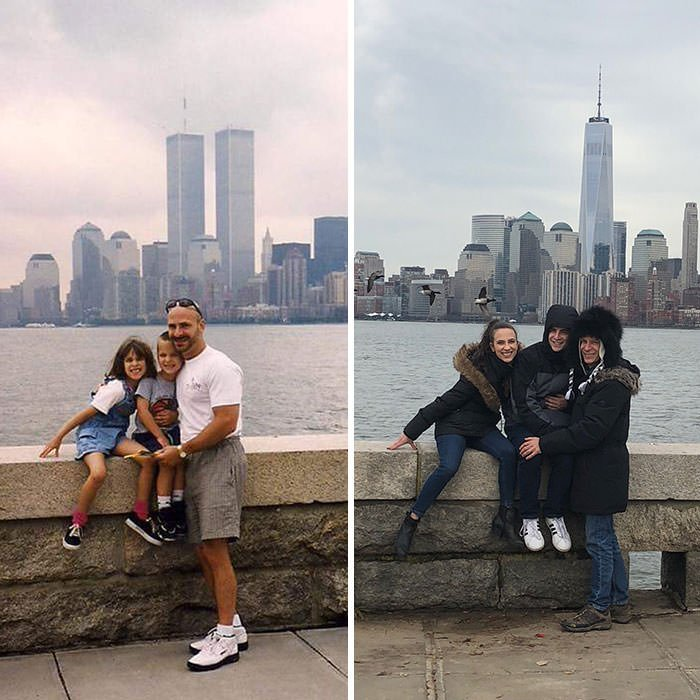 My Family Recreated Our Photo In Front Of The NYC Skyline From 1999!