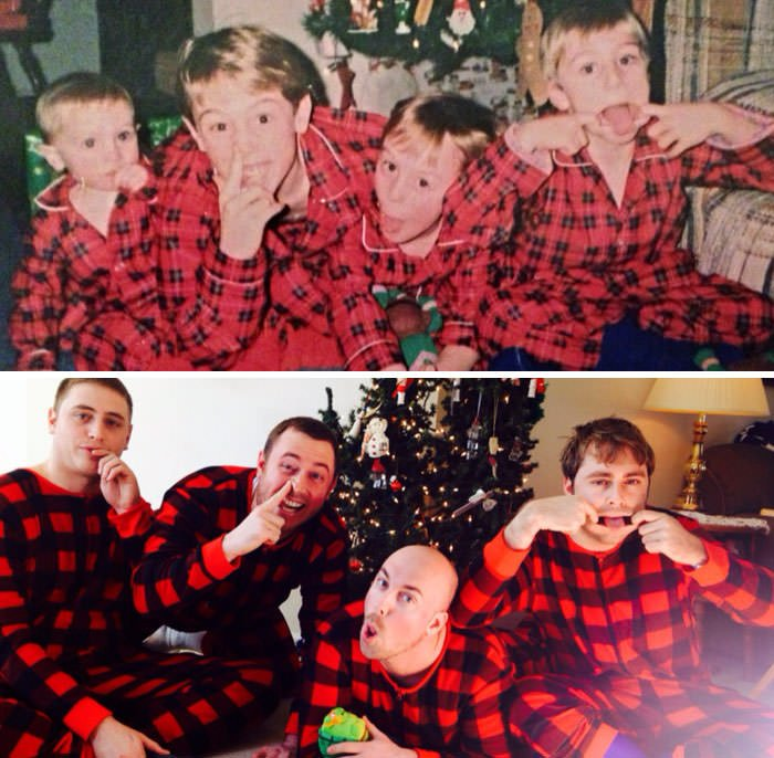 Our Attempt At A Then And Now Photo