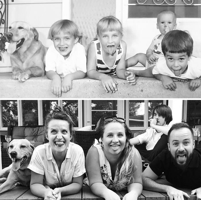 Picture With Cousins, 28 Year Difference