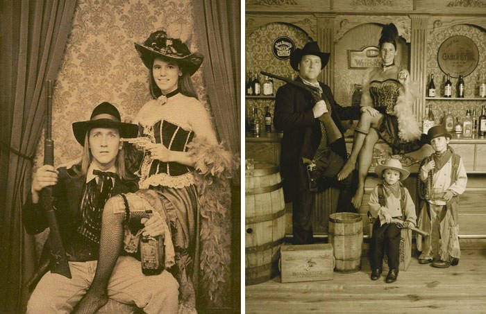 """As Teenagers On Our First Date We Took An """"Old West"""" Photo. Exactly 20 Years Later We Took Another One"""
