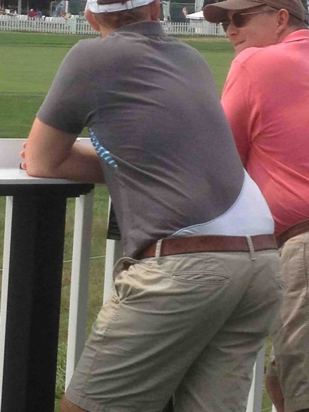 The Design On This Guys Shirt Makes Him Look Like He Is Walking Around With A Massive Wedgie