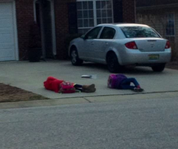 These Are The Children Waiting For The School Bus In My Neighborhood. Thursdays Are Just Hard