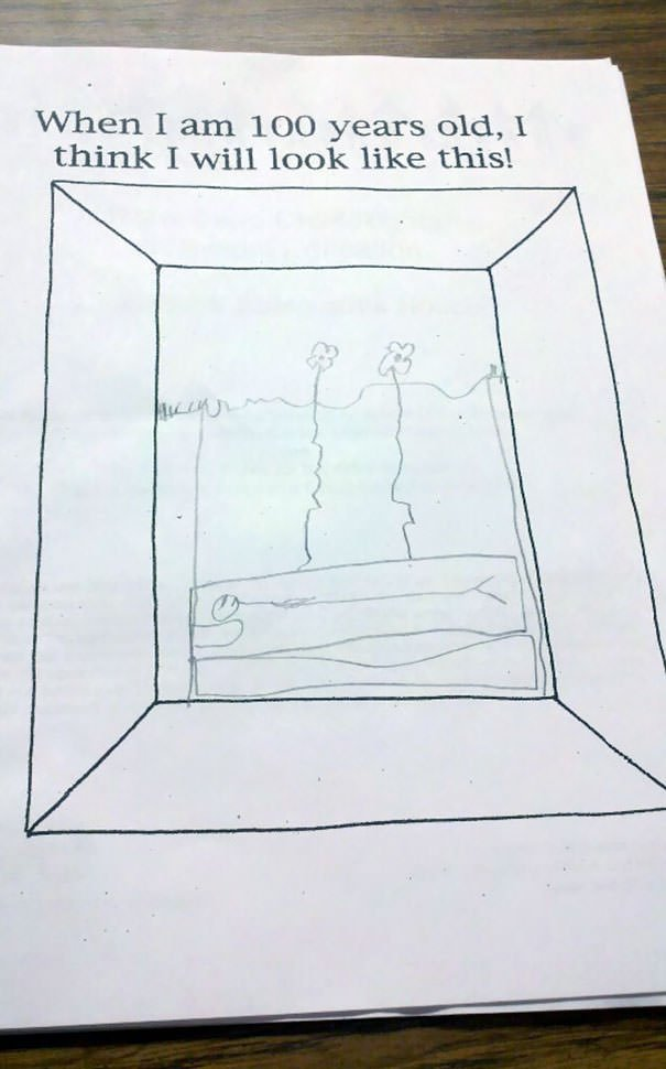 My Son, At Age 7, School Assignment