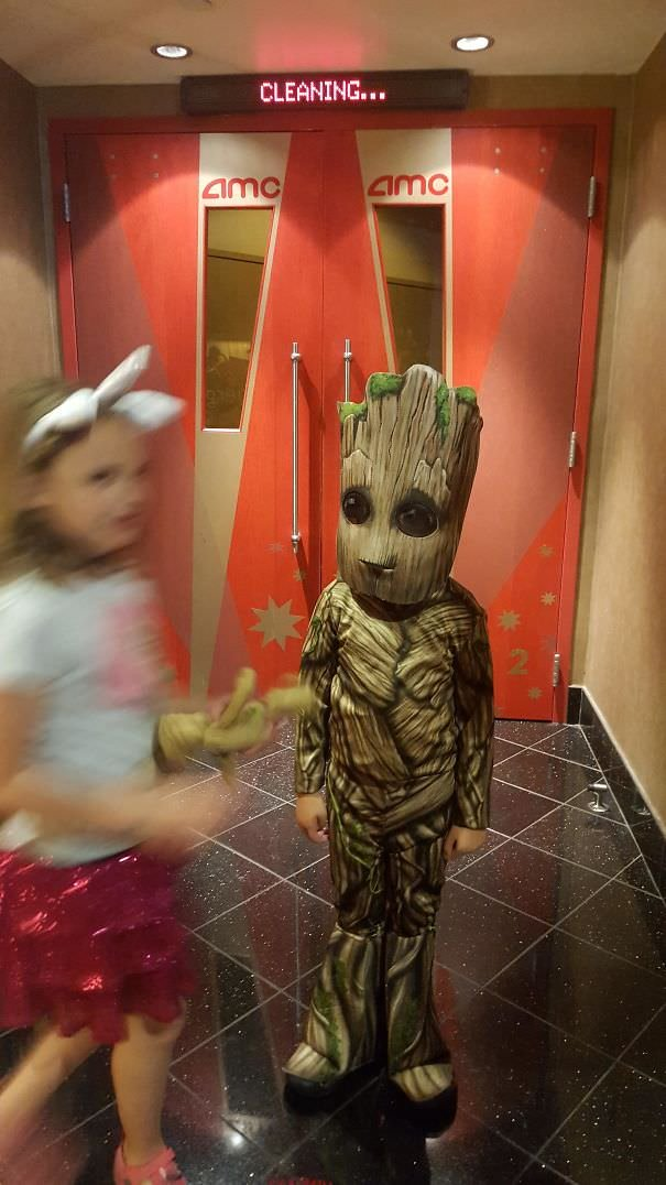 My 5-Year-Old Insisted On Dressing Up As Groot To See The New Guardians Of The Galaxy