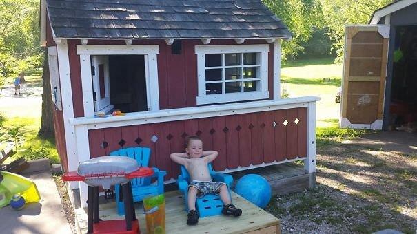 Built My Nephew A Playhouse. He