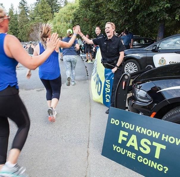 Police Stop At A Canadian Half Marathon