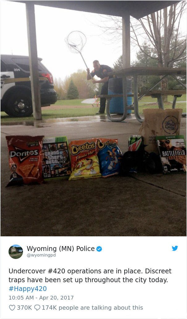 A Police Department In Minnesota Has Set Up Traps Throughout The City Today