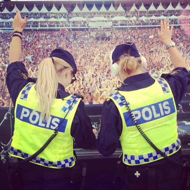 """The Swedish Police Posted This On Their Official Facebook Page During A Music Festival With The Text: """"It"""