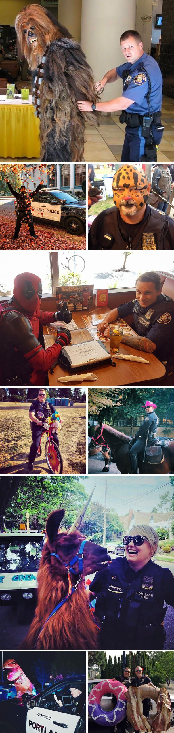 Portland Police Officers Always Have Fun At Work