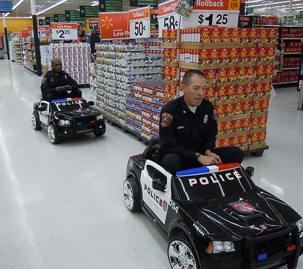 Racing In A Supermarket