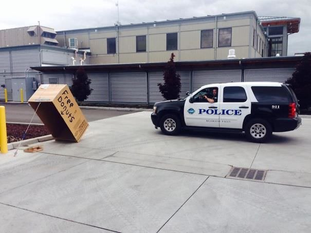 Our Fire Station Is Next Door To The Police Department. Pranks Ensue