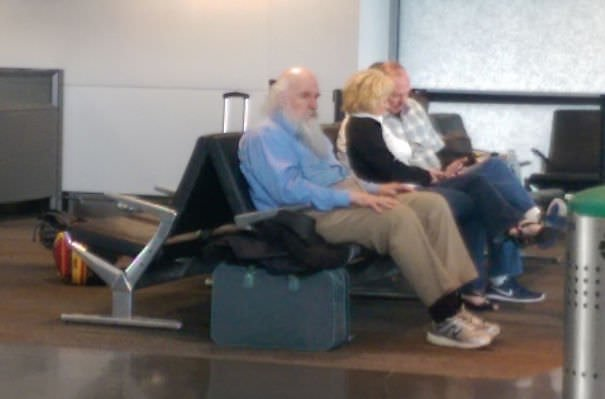 This Guy At The Airport Looked So Much Like Charles Darwin That I Didn