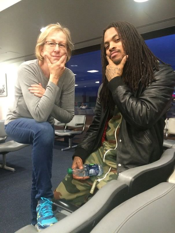 My Mom Ran Into Waka Flocka At The Airport And Sent Me This Picture