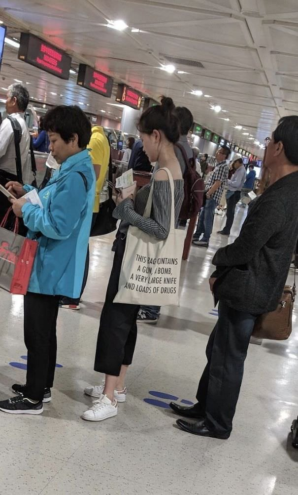 On A Recent Trip To Taipei, A Friend Captured This In The Security Line