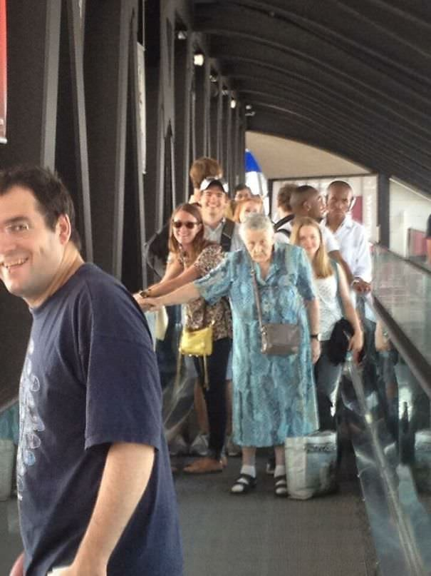 My Friend Was At The Airport, And This Old French Woman