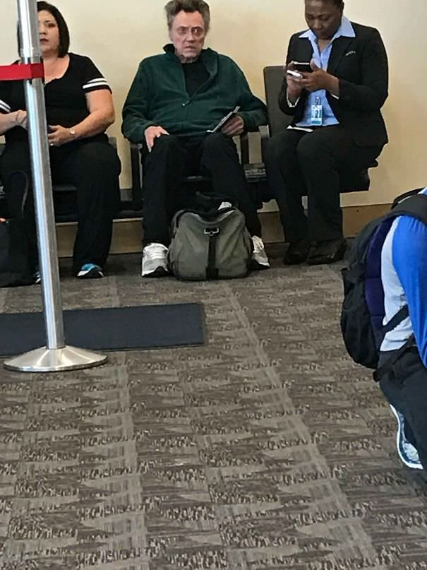 Saw Christopher Walken At The Airport Today