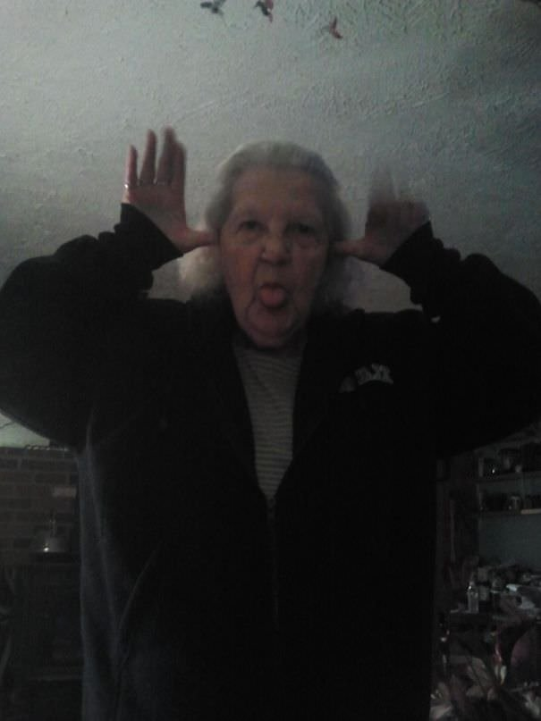 I Left My Phone Downstairs Yesterday. My Grandma And Aunt Figured Out Where The Camera Is
