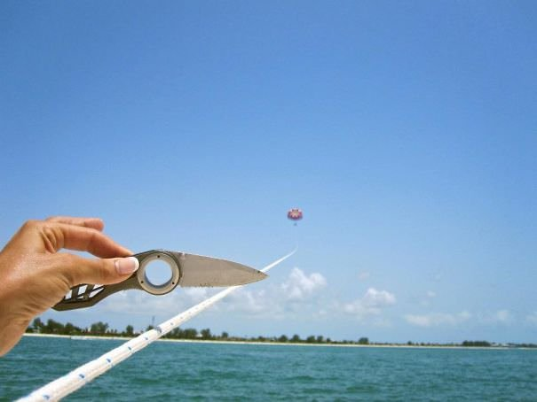 We Went Parasailing Yesterday And Asked Someone On The Boat To Take Photos Of Us. We Found This On Our Camera