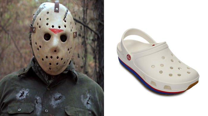 Jason Voorhees Looks Like Crocks Shoe