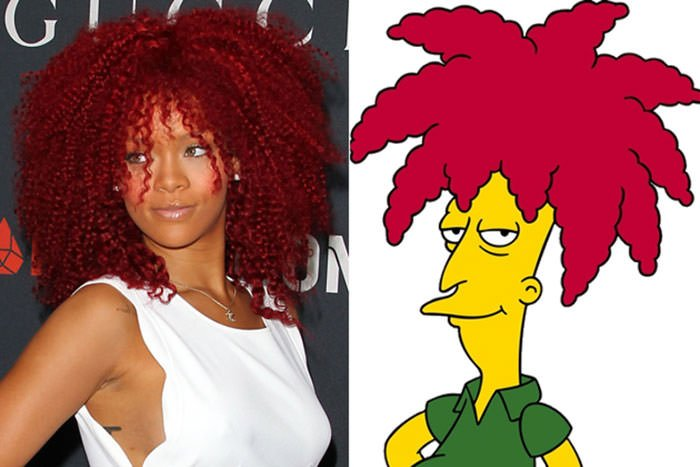 """Rihanna And Sideshow-Bob From """"The Simpsons"""""""