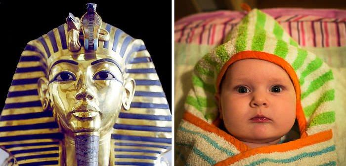 Baby Girl Looks Like Tutankhamun