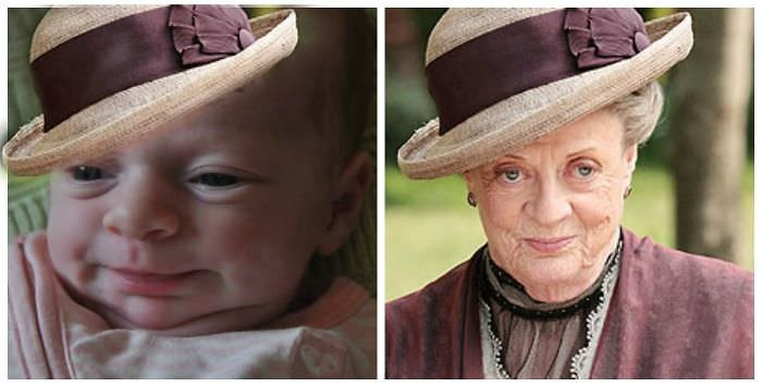 Baby Louise And Maggie Smith