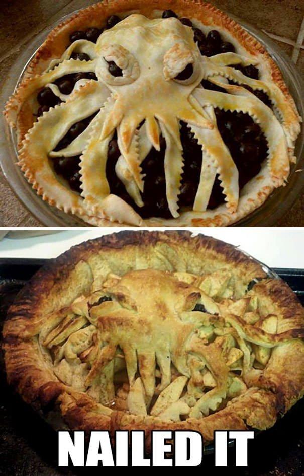 Cthulhu Pie Crust. Nailed It