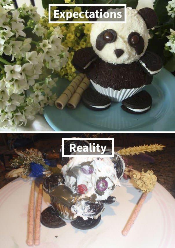 Panda Zombie Cupcake